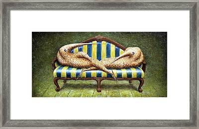 Siamese Twins Framed Print by Lolita Bronzini