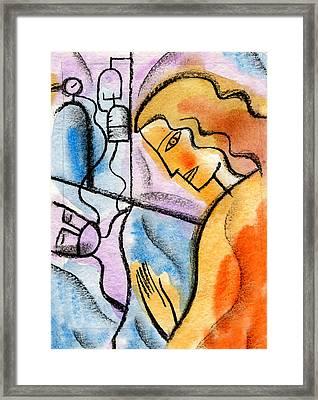 Sickness And Healing Framed Print by Leon Zernitsky
