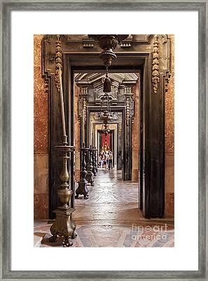 Side Aisle Of The Basilica Of The Mafra Framed Print by Jose Elias - Sofia Pereira