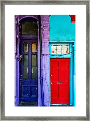Side By Side Magazine Street Framed Print by Terry Finegan