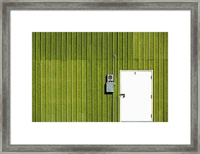 Side Of Green Framed Print by Todd Klassy