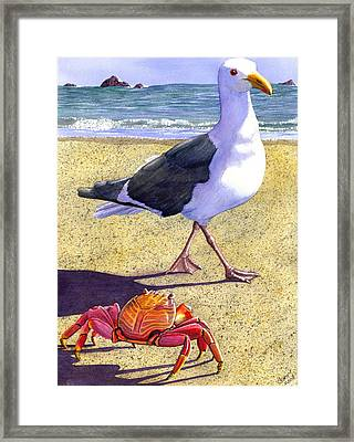 Side Stepping Framed Print by Catherine G McElroy
