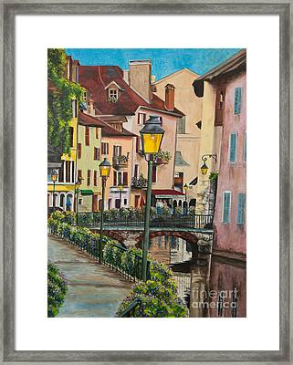 Side Streets In Annecy Framed Print by Charlotte Blanchard