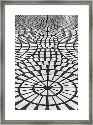 Sidewalk Abstract Framed Print by Bill Gallagher