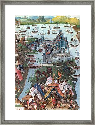 Siege Of Constantinople, 1453 Framed Print by Photo Researchers