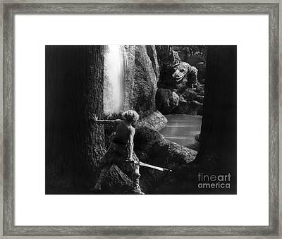 Siegfried Slaying Dragon Framed Print by Granger