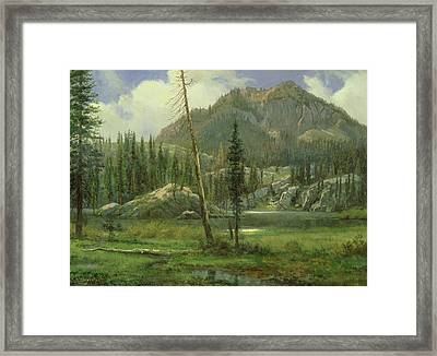 Sierra Nevada Mountains Framed Print by Albert Bierstadt