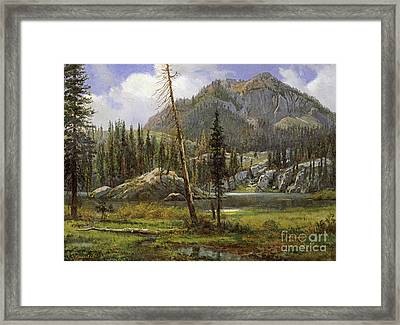 Sierra Nevada Mountains Framed Print by Celestial Images