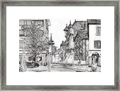 Sierre, Switzerland Framed Print by Vincent Alexander Booth