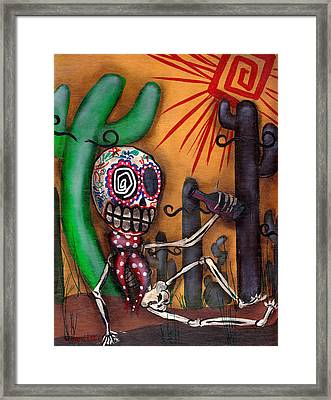 Siesta  Framed Print by  Abril Andrade Griffith