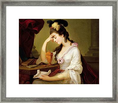 Sigismonda And The Heart Of Guiscardo Framed Print by Moses Haughton