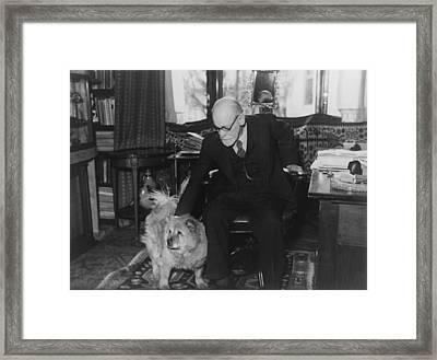 Sigmund Freud 1856-1939, Seated Framed Print by Everett