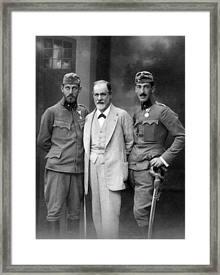Sigmund Freud 1856-1939, With His Sons Framed Print by Everett