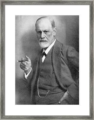 Sigmund Freud Framed Print by English School