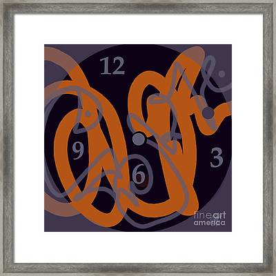 Sign Of Our Times Framed Print by Carol Jacobs