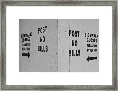 Sign Of The Times Framed Print by Robert Ullmann