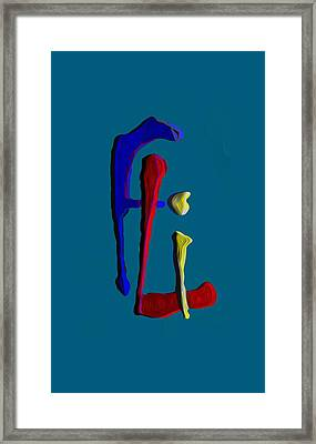 Signature Framed Print by  Fli Art