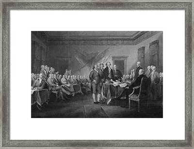 Signing The Declaration Of Independence Framed Print by War Is Hell Store