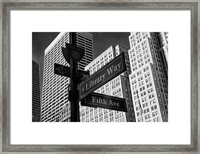 Signs Framed Print by Jessica Jenney