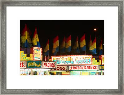 Signs Of Food At The Carnival Framed Print by James BO  Insogna