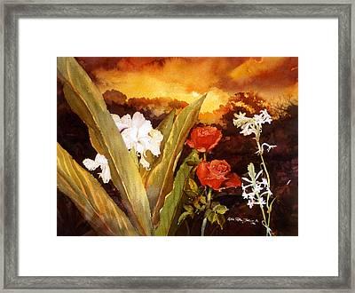 Silence-flowers Sleeping Framed Print by Estela Robles