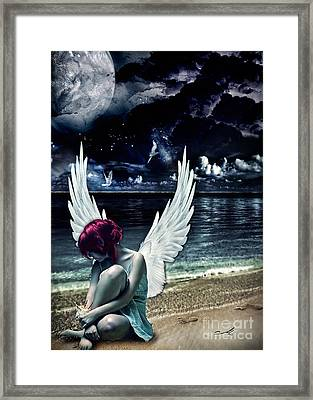 Silence Of An Angel Framed Print by Mo T
