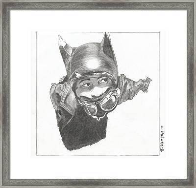 Silent Bob Batman Framed Print by Jeremy Waters