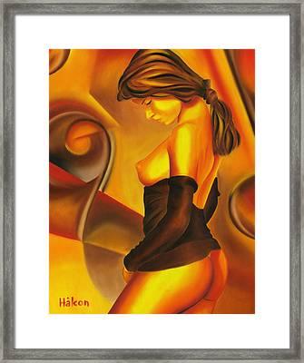 Silent Contemplation Framed Print by Hakon Soreide