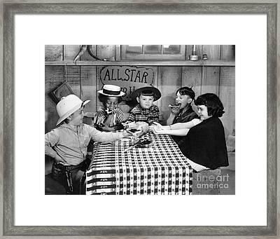 Silent Film: Little Rascals Framed Print by Granger