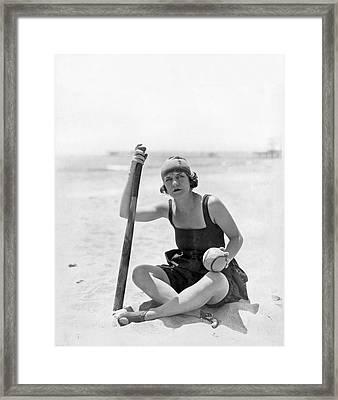 Silent Film Star Viola Dana Framed Print by Underwood Archives