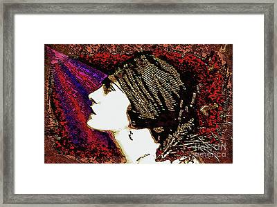Silent Movie Star - Gloria Swanson Framed Print by Ian Gledhill
