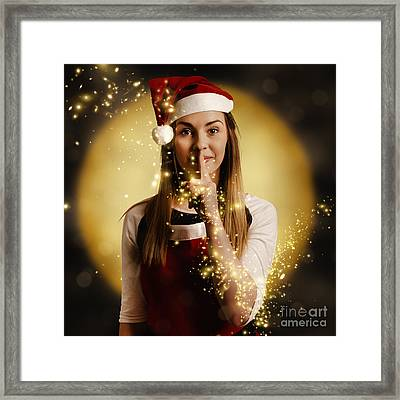 Silent Night Elf Keeping Night Watch For Santa  Framed Print by Jorgo Photography - Wall Art Gallery
