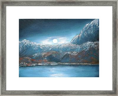 Silent Night In Silver Framed Print by Anne Thomassen