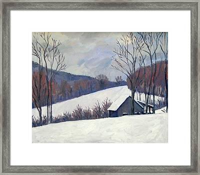 Silent Snow Berkshires Framed Print by Thor Wickstrom
