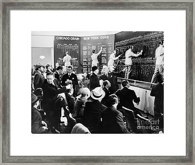 Silent Still: Banking Framed Print by Granger