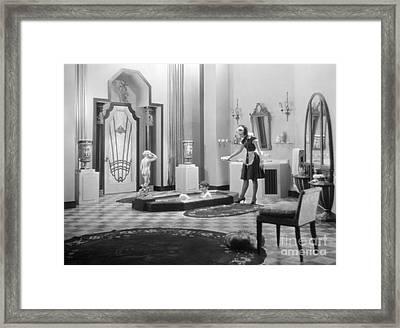 Silent Still: Bathtub Framed Print by Granger