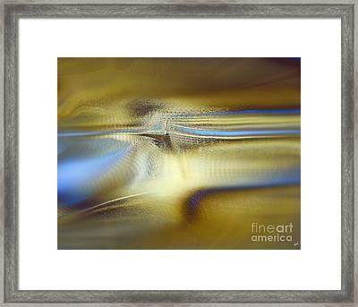 Touch Of Blue Framed Print by Yul Olaivar