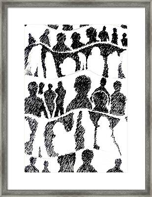 Silhouettes 1 Framed Print by Helena Tiainen