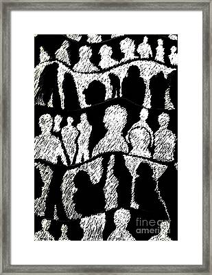 Silhouettes 2 Framed Print by Helena Tiainen