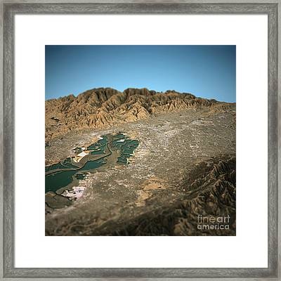 Silicon Valley 3d View West To East Natural Color Framed Print by Frank Ramspott