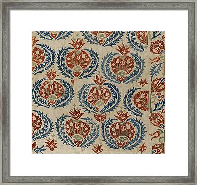 Silk Embroidered Linen Panel Framed Print by Eastern Accents