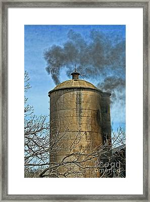 Silo Fire Venting Framed Print by Tommy Anderson