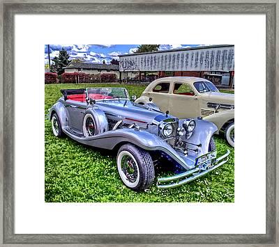 Silver 540k Mercedes   Framed Print by Thom Zehrfeld