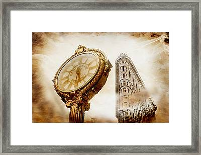 Silver And Gold Framed Print by Az Jackson