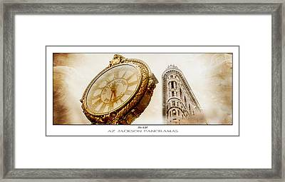 Silver And Gold Poster Print Framed Print by Az Jackson