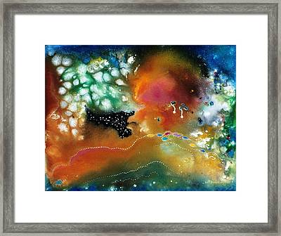 Silver Dreams Of The Desert Framed Print by Lee Pantas