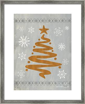 Silver Gold Tree Framed Print by Debbie DeWitt