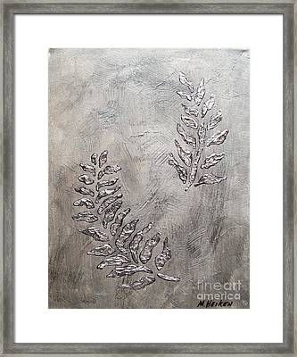 Silver Leaves Framed Print by Marsha Heiken