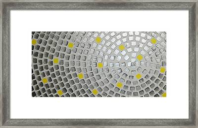 Silver Meets Yellow Framed Print by Ilonka Walter