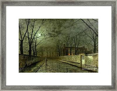 Silver Moonlight Framed Print by John Atkinson Grimshaw